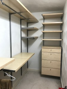 Birch drawer fronts with decor 2