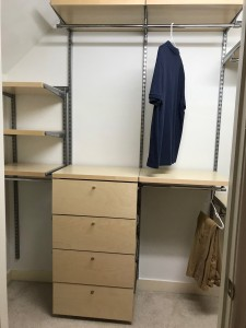 Birch drawer fronts with decor